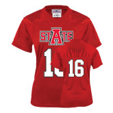 Ladies Red Replica Football Jersey-#16