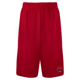 Syntrel Performance Red 9 Inch Length Shorts-Red Wolf Head