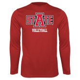 Syntrel Performance Red Longsleeve Shirt-Volleyball