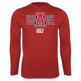 Performance Red Longsleeve Shirt-Golf