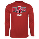 Performance Red Longsleeve Shirt-Rugby