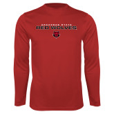 Syntrel Performance Red Longsleeve Shirt-Arkansas State Red Wolves Block