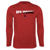 Performance Red Longsleeve Shirt-Red Wolves Two Tone