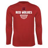 Performance Red Longsleeve Shirt-Basketball Sharp Net