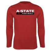 Performance Red Longsleeve Shirt-Football Bar