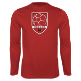 Syntrel Performance Red Longsleeve Shirt-Soccer Shield