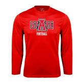 Syntrel Performance Red Longsleeve Shirt-Football