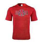 Performance Red Heather Contender Tee-A State