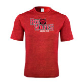 Performance Red Heather Contender Tee-Red Wolves Stacked Head Centered