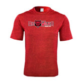 Performance Red Heather Contender Tee-Red Wolves w/Red Wolf Head Centered