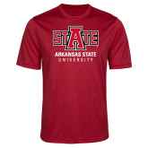 Performance Red Heather Contender Tee-University Mark