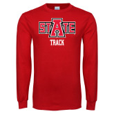 Red Long Sleeve T Shirt-Track
