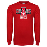 Red Long Sleeve T Shirt-Soccer