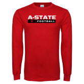 Red Long Sleeve T Shirt-Football Bar