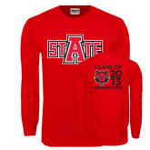 Red Long Sleeve T Shirt-A State, Personalized Class Of Tee