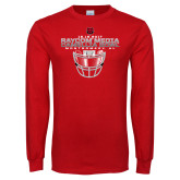 Red Long Sleeve T Shirt-Camellia Bowl Face Mask Design