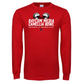 Red Long Sleeve T Shirt-Camellia Bowl Helmets Design