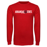 Red Long Sleeve T Shirt-Arkansas State Red Wolves