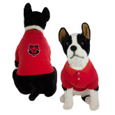Classic Red Dog Polo-Red Wolf Head