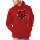Under Armour Red Armour Fleece Hoodie-Red Wolf Head