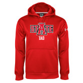 Under Armour Red Performance Sweats Team Hood-Dad