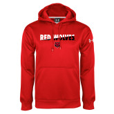 Under Armour Red Performance Sweats Team Hood-Red Wolves Two Tone