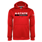 Under Armour Red Performance Sweats Team Hood-Football Bar