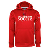 Under Armour Red Performance Sweats Team Hood-Soccer Stacked Text