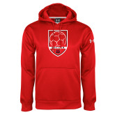 Under Armour Red Performance Sweats Team Hood-Soccer Shield