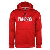 Under Armour Red Performance Sweats Team Hood-Tennis Stacked Text