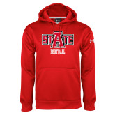 Under Armour Red Performance Sweats Team Hood-Football