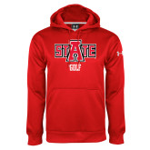 Under Armour Red Performance Sweats Team Hoodie-Golf