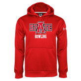 Under Armour Red Performance Sweats Team Hoodie-Bowling