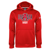 Under Armour Red Performance Sweats Team Hood-Rugby