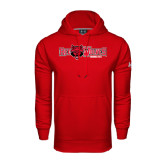 Under Armour Red Performance Sweats Team Hood-Red Wolves w/Red Wolf Head Centered