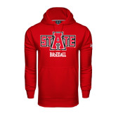 Under Armour Red Performance Sweats Team Hood-Baseball