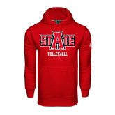 Under Armour Red Performance Sweats Team Hood-Volleyball