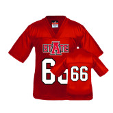 Youth Replica Red Football Jersey-#66