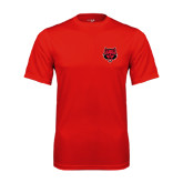Syntrel Performance Red Tee-Red Wolf Head