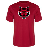 Performance Red Tee-Red Wolf Head