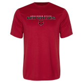 Performance Red Tee-Arkansas State Red Wolves Block