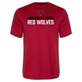 Performance Red Tee-Arkansas State Red Wolves Stacked Block