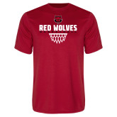 Performance Red Tee-Basketball Sharp Net