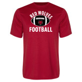Syntrel Performance Red Tee-Football Distressed Ball