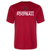 Performance Red Tee-Football Stacked Text