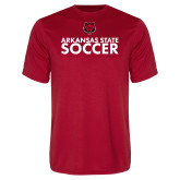 Performance Red Tee-Soccer Stacked Text