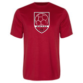 Performance Red Tee-Soccer Shield