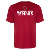 Performance Red Tee-Tennis Stacked Text
