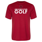 Performance Red Tee-Golf Stacked Text