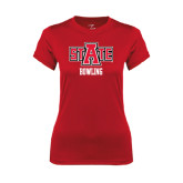 Ladies Syntrel Performance Red Tee-Bowling